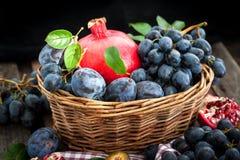 Fresh autumn fruits Royalty Free Stock Photo