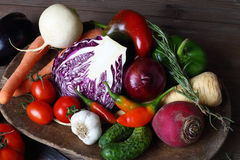 Fresh autumn vegetables Royalty Free Stock Photo