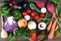 Fresh autumn vegetables Royalty Free Stock Photos