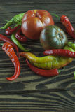 Fresh autumn vegetables. Rustic Style Stock Photo