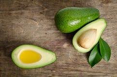 Fresh avocado and avocado like a bowl for oil Stock Photos