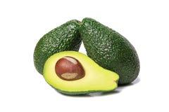 Fresh avocado. S isolated on white background close-up Stock Photos