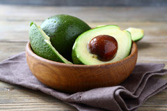 Fresh avocado in a bowl Stock Image