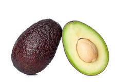 Fresh avocado cut in half Stock Image