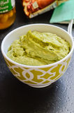 Fresh avocado dip Stock Photography