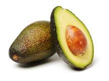 Fresh avocado fruit. Isolated on white background Stock Photos