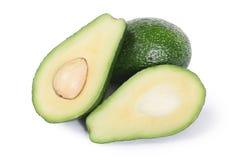Fresh avocado isolated on white Royalty Free Stock Photo