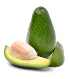 Fresh avocado isolated Stock Images