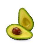 Fresh avocado isolated on white background. Avocado isolated on white background royalty free stock photography