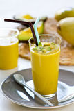 Avocado with Mango smoothie Stock Images
