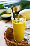 Avocado with Mango smoothie Royalty Free Stock Images