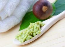 Fresh avocado mask Stock Images