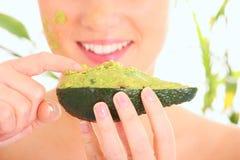Fresh avocado mask Stock Photo