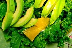 Fresh avocado salad Stock Images
