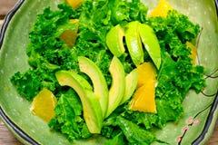 Fresh avocado salad Royalty Free Stock Images