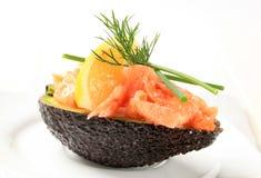 Fresh avocado and salmon tartare Stock Photography
