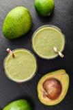Fresh avocado smoothie Stock Photos