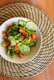 Fresh avocado and tomatoes salad Royalty Free Stock Photos