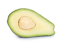 Fresh avocado on white Royalty Free Stock Photography
