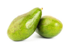 Fresh avocado. On white background Royalty Free Stock Photos