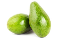 Fresh avocado. On white background Royalty Free Stock Images