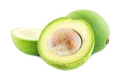 Fresh avocado on white background.  stock photo