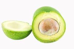 Fresh avocado on white background.  royalty free stock photos