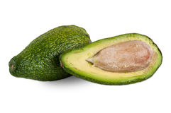 Fresh avocado on white background Stock Images