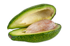Fresh avocado on white background Stock Photos