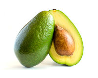 Fresh avocado  on white Royalty Free Stock Images