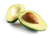 Fresh avocado  on white Royalty Free Stock Image
