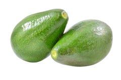 Fresh avocados on white stock image