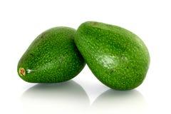 Fresh Avocados on whtie background Royalty Free Stock Photos