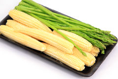 Fresh Baby corn and Asparagus Royalty Free Stock Image