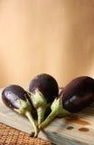 Fresh Baby Eggplants Royalty Free Stock Image