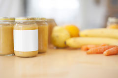 Fresh baby food Royalty Free Stock Photography