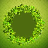 Fresh background with green leaves. + EPS10. Vector file Stock Images