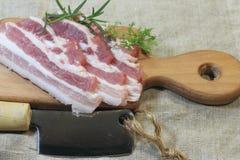 Fresh bacon Stock Photo