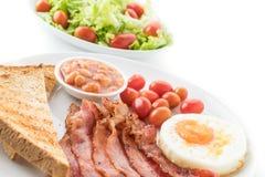 Fresh bacon on white Royalty Free Stock Photo