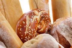 Fresh bagel baked bread Royalty Free Stock Photos
