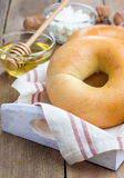 Fresh bagel for breakfast Royalty Free Stock Photography