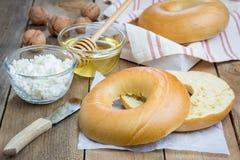 Fresh bagel for breakfast Stock Photos