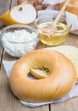 Fresh bagel for breakfast Stock Images