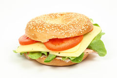 Fresh bagel sandwich Royalty Free Stock Photography