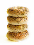 Fresh bagels Stock Images