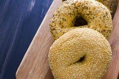 Fresh bagels Stock Image