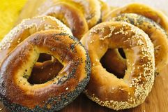 Fresh bagels Stock Photos