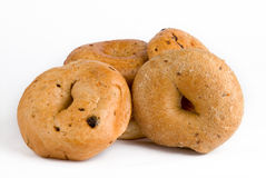 Fresh bagels. In white background Stock Photography