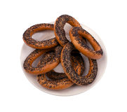 Fresh bagels with poppy seeds Royalty Free Stock Image