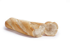 Fresh baguette, halved Royalty Free Stock Photo